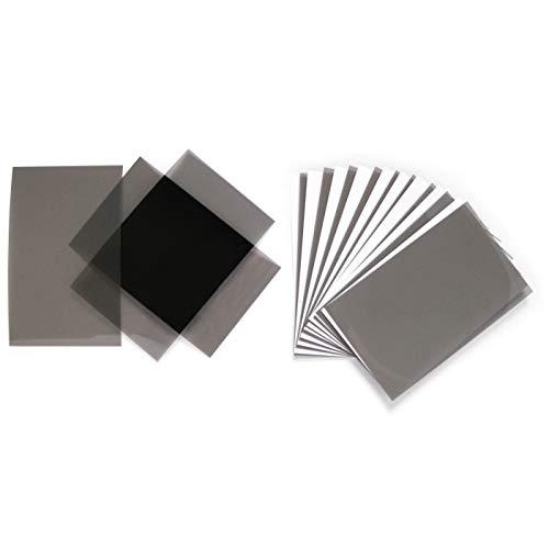 12er Set Polfilter 80x50x0.2 mm für Experimente im Physik- und NaWi-Unterricht