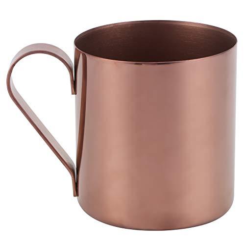 400ml Cocktailbecher 304 Edelstahl Kaffeebecher, Bier Kaffee Wasser Trinkbecher, BPA Free Bar Drinkware(Roségold)