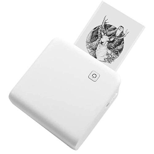 Gaoominy M02 Pro 300Dpi High Resolution Thermal Printer Mobile Printer Sticker for and Android Phones A