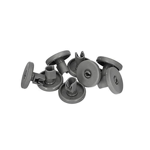 LUTH Premium Profi Parts - 8x Rotelle per cestello inferiore lavastoviglie | Compatibile con AEG Electrolux 502869696500 50286965004 435857