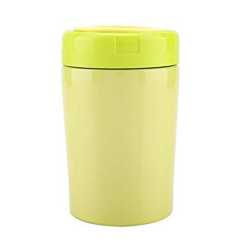 Boîte à lunch, Delaman en acier inoxydable Thermos flacon récipient alimentaire bécher braisé conservation de la chaleur boîte à lunch accessoires de cuisine(vert)