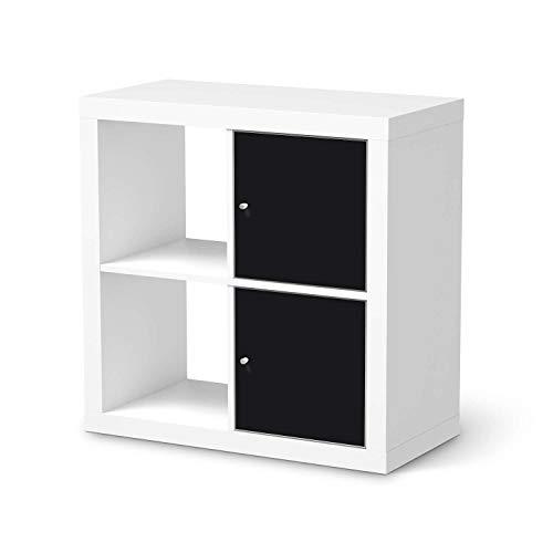 creatisto Möbel-Tattoo passend für IKEA Kallax Regal 2 Türen Hoch I Möbelsticker - Möbel-Sticker Aufkleber Folie I Innendekoration für Esszimmer, Wohnzimmer - Design: Schwarz