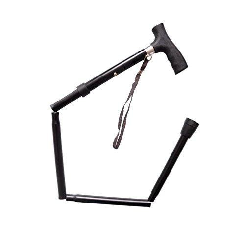 XYLUCKY Telescópico bastón plegable de aluminio antideslizante caña de ancianos Bastón con asiento