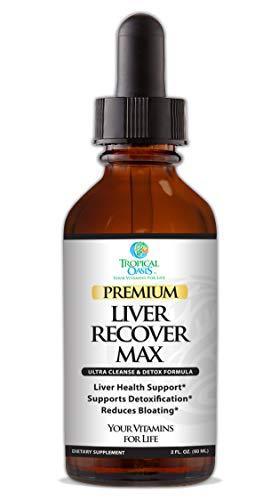 Premium Liver Recover MAX| Liquid Liver Cleanse & Detox Supplement| All Natural Formula| Liver Support Blend- Organic Chanca Piedra, Milk Thistle, Artichoke Leaf, Dandelion - 98% Absorb| 60 serv