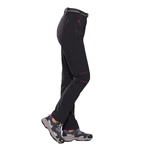 Tofern Pantaloni Impermeabili da Donna/Ragazza per attività all'aperto Invernali sugli Sci neroEuro L = Asia XL