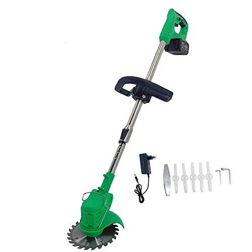 TABODD 450W Elektro-Rasentrimmer 21V, Motorsense Freischneider Grasschneider Grasschere Rasenschere Strauchtrimmer Heckenschere Grasschermesser Strauchschermesser mit Ladegerät - Grün