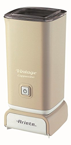 Ariete 2878 Cappuccinatore Vintage - Montalatte per cappuccino, tè, cioccolata calda e fredda, infusi liofilizzati, 500 watt, in colore Beige pastello