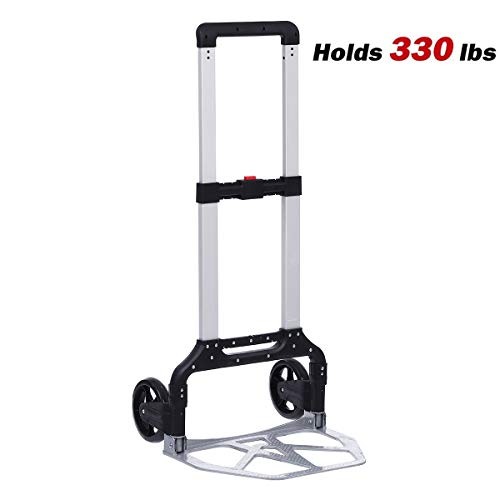 KingSo 330-lb Folding Hand Truck Heavy Duty Capacity Portable Aluminum...