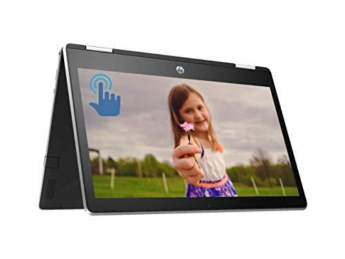 HP Pavilion x360 Premium 2 in 1 Laptop Computer, Intel Quad-Core Pentium Silver N5000Processor, 11.6' HD IPS Touchscreen Display, 4GB DDR4 128GB SSD, HD Camera B&O USB-C HDMI WiFi BT 4.2 Win 10