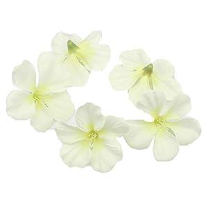 Queenbox 200pcs/lot Spring Silk Orchid Artificial Flower Heads Gladiolus Cymbidium Flowers for Wedding Decoration