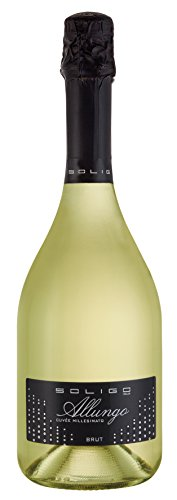 6 x Allungo Vino Spumante Cuvée Millesimota Brut im Vorteilspack Cantina Colli del Soligo, eleganter Spumante aus Venetien