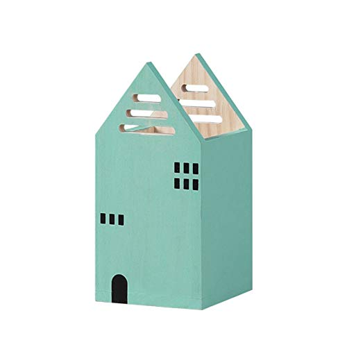 AiBLii Stiftehalter, Hausform, Holz,...