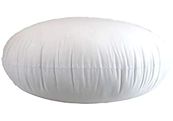 Round Pillow Insert Hypoallergenic Polyester Form Stuffer- %100 Cotton Blend Covering for Sofa Sham Decorative Pillow Cushion and Bed - 26 X 26 Inch