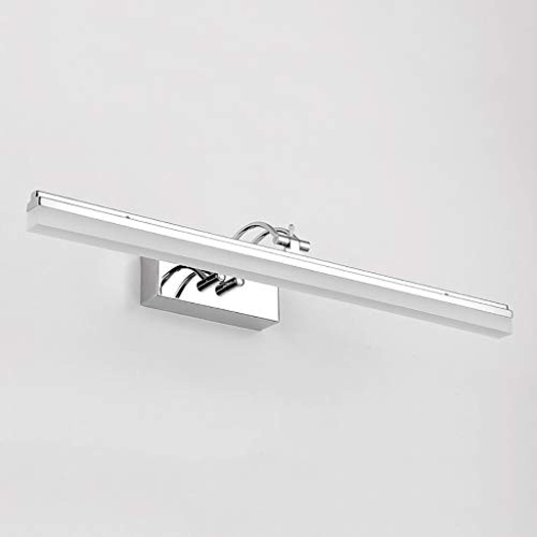 Spiegelleuchten LED Spiegel Scheinwerfer Badezimmer Wandleuchte Schminktisch Spiegel Schranklampe Wasserdichte Anti-Fog-Spiegel Lampe Lnge  39 49 59 69 cm. ( Farbe   Warmes Licht , gre   49cm-12W )
