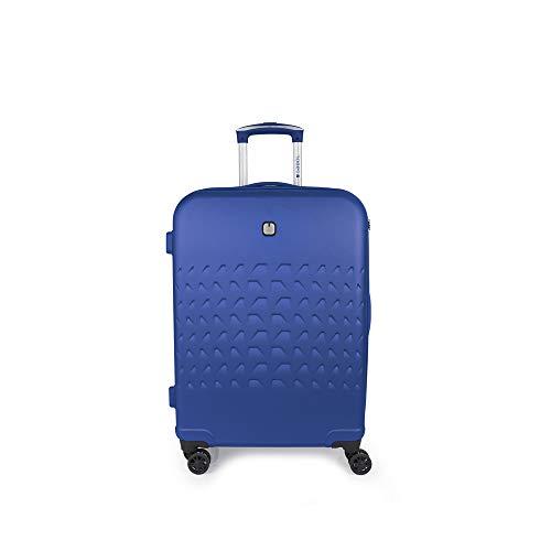 Gabol - Duke | Maleta de Viaje Mediana Rigida de 47 x 66 x 25 cm con Capacidad para 62 L de Color Azul