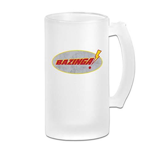 Big Bang Theory,Bazinga Frosted Beer Mugs Glass,Frosted Glass Beer Mugs,Frosted Beer...