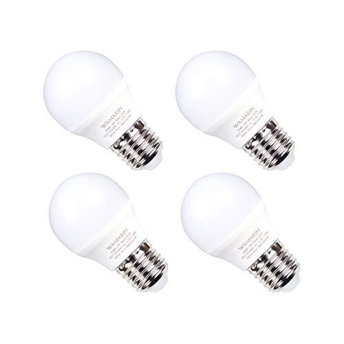 Wamarin - foco LED para nevera (5 W, A15, E26, base media, equivalente a 40 W, 5000 K, luz blanca fría, impermeables, para...