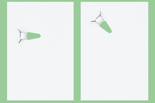 Papiertacker ohne Klammern / Umweltfreundlich Heftgerät/Hefter 4Blatt,Schwarz - 4