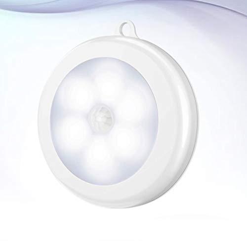 Uonlytech 2Pc Runde Motion Sensor Wand Lampe mit Magnetische Batterie Opretaed Flur Licht LED Wand Leuchte Beleuchtung für Schrank Schlafzimmer Küche