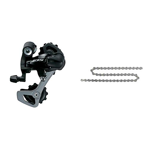 SHIMANO 05 10V Triple Cambio, Negro, Talla Única + Deore CNHG54116I - Cadena Hg-54 116 Eslab. 10 Velocidades