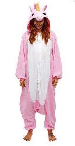 Einhorn Adult Pyjama Cosplay Tier Onesie Body Nachtwäsche Kleid overall Animal Sleepwear Erwachsene (Erwachsene L Für Hohe 166-175CM, Rosa)