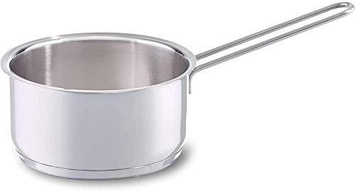 Fissler häppchen / Edelstahl-Stielkasserolle (Ø 14 cm, 1 Liter) - deckellos, unbeschichtet - Induktion