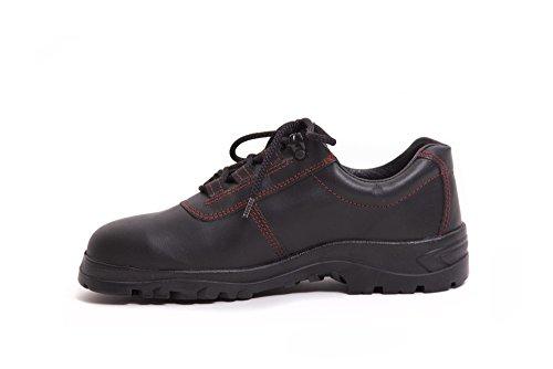 HERKULES Sicherheitsschuh I Schnürschuhe I Schuhe aus Leder I Stahlkappe I S2, Groesse:47 EU