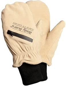 Body Guard M Series 431 Brown Deerskin PosiTherm Lined Slip-On Wing Thumb Body Guard Cold Weather Leather Palm Mitt (package of 3)(Pack of 3)