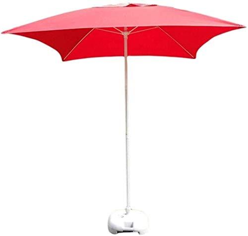 Cassetta Postale da Giardino Rossa, Tavolo da Pranzo da Giardino Quadrato Regolabile e ombrellone, Adatto per Cortile Esterno, Mercato di attività Commerciali in Spiaggia, Nuoto