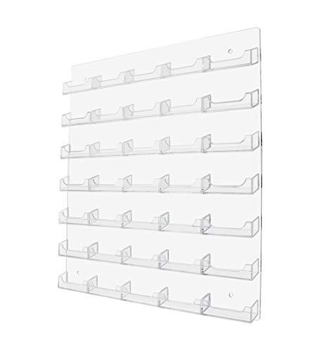 マーケティングホルダー 35ポケット 壁取り付け 不動産業者連絡先 名刺ディスプレイ 収納 整理 マルチポケット ゲームカード メンバーシップ VIPポイントカード 小売ラック クリア 1個パック