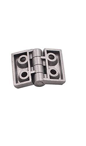 JAP768 10PCS Extrusión de Aluminio Perfil de 2020 3030 3040 4040 Bisagra de aleación de Zinc Metal de la bisagra con Tornillo y Tuerca (Color : 2020 Silver)