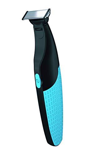 Marca Amazon - Recortadora eléctrica Solimo con 1 cuchilla, 3 peines y cable de carga