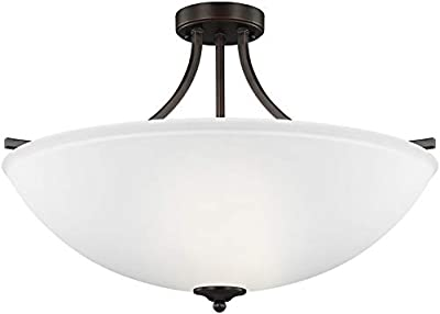 Sea Gull Lighting 7716504-710 Geary Semi Flush, 4-Light 400 Total Watts, Burnt Sienna