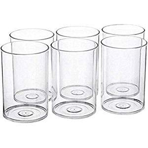 MR Products Multi Purpose Unbreakable Drinking Glass Set of 6 Pcs, ABS Poly Carbonate Plastic,300 ml Capacity Each, Clear Glass (Unbreakable)