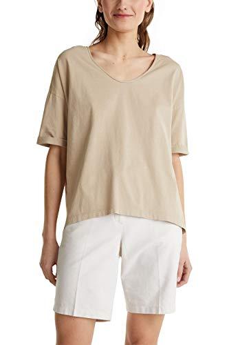 Esprit 040ee1k308 Camiseta, 280/Piel Beige, L para Mujer