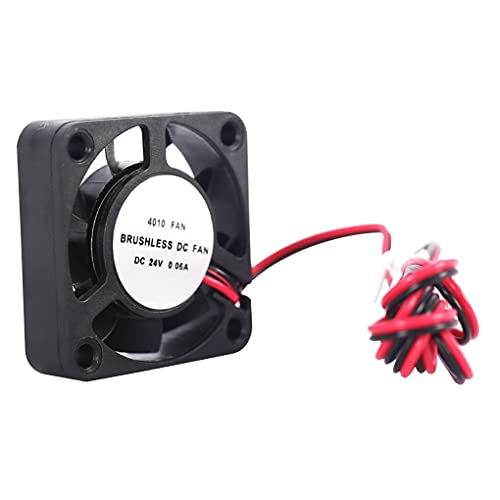Guangcailun Ultra-quiet Small Heat Dissipation Cooling Fan Blower Extruder 3D Printer Turbine 2 Line Oil Bearing for 4010