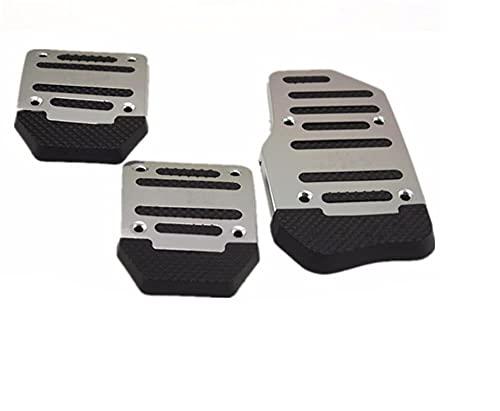Pedal de Freno Pedal de Caja de Cambios de Coche Auto Antideslizante Acelerador Accesorios de Freno para Fiat Punto Palio Uno Idea Bravo Sedici Grande Cubierta de Pedal (Nombre del Color: Negro) útil
