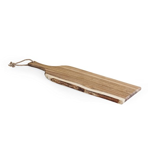 TOSCANA - a Picnic Time Brand Artisan Acacia Wood Serving Plank, 24-Inch