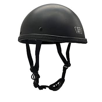 Motorcycle Half Helmet DOT Approved Motorcycle Beanie Helmet Skull Cap Half Helmet Half Shell Helmet for Adults Men Women Low Profile Cool Half Face Helmets Matte Black L