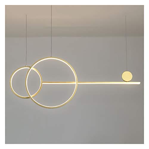 Lámpara de araña, LED regulable, moderna y minimalista, mesa de comedor y oficina, lámpara de diseño de rayas largas (color: A)
