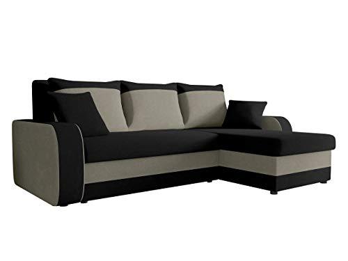 Ecksofa Kristofer, Design Eckcouch Couch! mit Schlaffunktion, Zwei Bettkasten, Farbauswahl, Wohnlandschaft! Bettfunktion! L-Form Sofa! Seite Universal! (Mikrofaza 0015 + Mikrofaza 0014.)