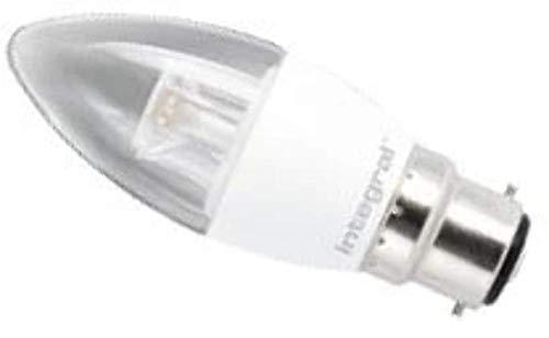 Integral LED ILB35B22C6.5D05KBEWA Ampoule LED B22 Chandelle 6,5 W 5000 K 490 lm Dimmable Plastique/Aluminium/Verre/Nickel Brossé Blanc Froid 11,2 x 3,8 cm