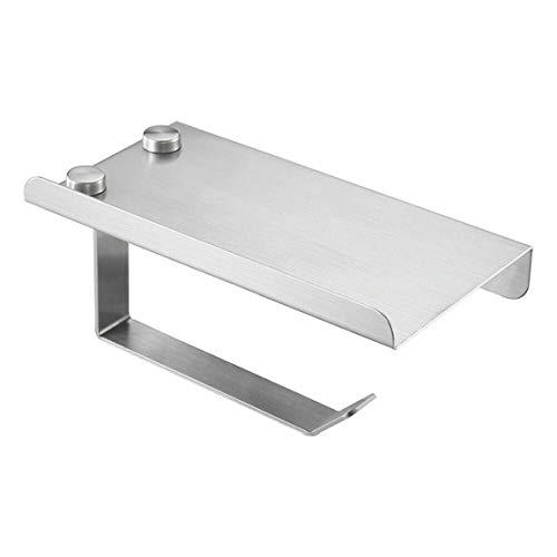 SeniorMar-UK Toilettenpapierhalter - Bad Seidenpapierrollenhalter Federbelastetes Aluminium poliertes Finish für Badezimmer (Silber)
