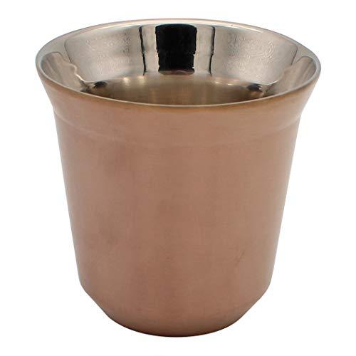 Dianoo Kaffeetasse Espressotassen Aus Edelstahl Doppelwandig Thermisch Isoliert Kapsel Kaffeebecher Gold