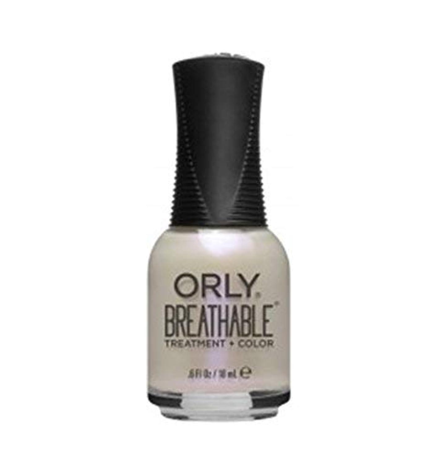 従う透明に疫病ORLY Breathable Lacquer - Treatment+Color - Crystal Healing - 18 ml/0.6 oz