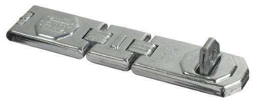 ABUS Gelenk-Überfalle 110/195 - Vorrichtung für Vorhängeschlösser - für aufschlagende Türen und Ecklösungen - 32173 - Level 8 - Silberfarben