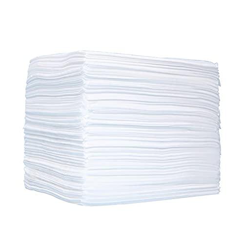 100 Stück bettlaken, 80 * 180 cm Einwegbettlaken, Vlies Einweg Wasserdichter Stoff Verdickt Sterile Hygienematte für Schönheitssalon, Massage, Tätowierung, Hotels, Weiß