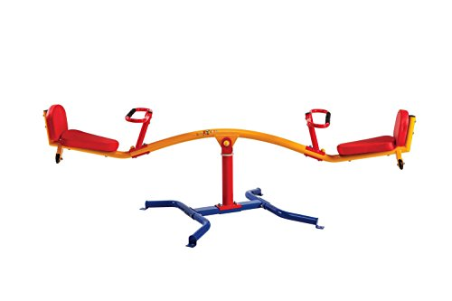 Gym Dandy Spinning Teeter Totter - Impact Absorbing Kids Playground Equipment -...