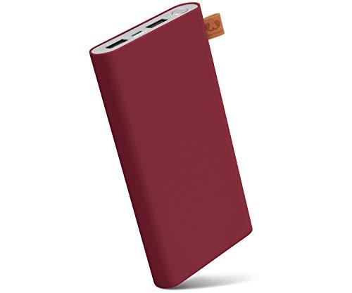 Fresh \'n Rebel Powerbank 12000 mAh Ruby | Tragbares Ladegerät/Externer Akku mit 2 USB Anschlüssen