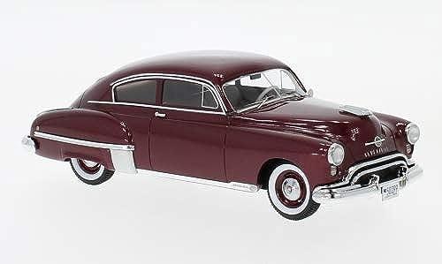 Oldsmobile Rocket 88 Futuramic 2-Porte Club Coupe, Metallic-Rouge foncé, 1949, Voiture Miniature, Miniature déjà montée, Neo 1 43